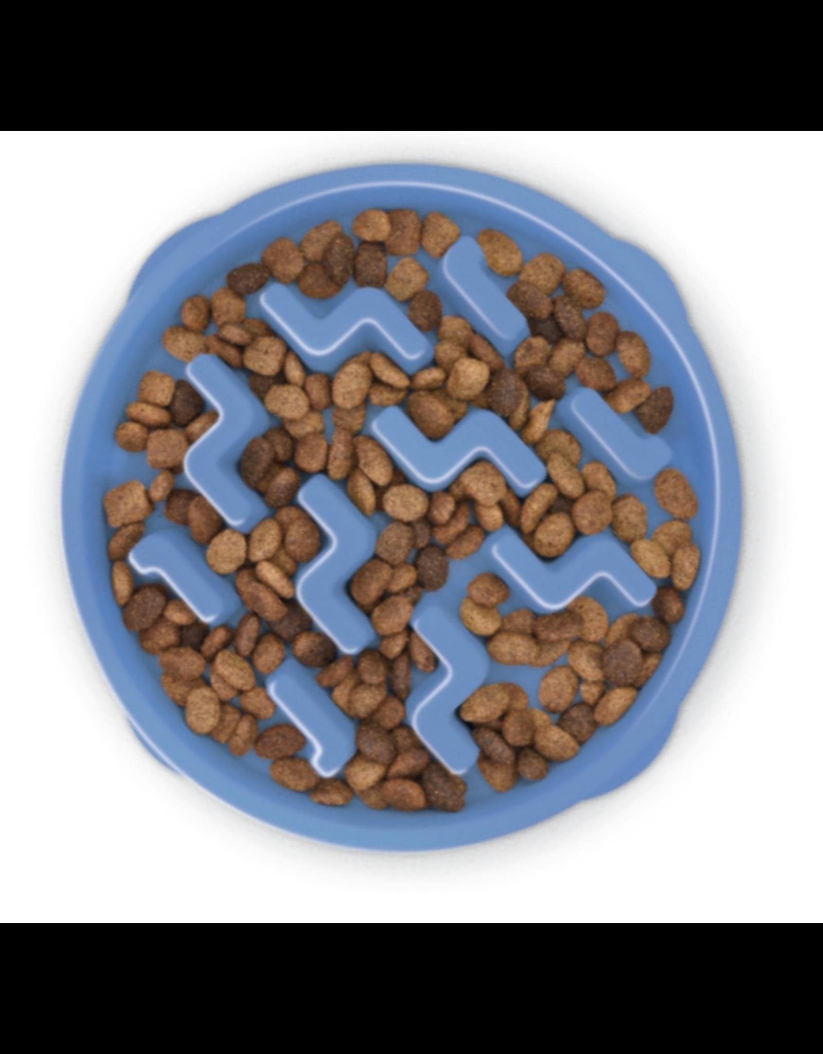 Outward Hound Outward Hound Fun Feeder Slo-Bowl for Dogs - Blue