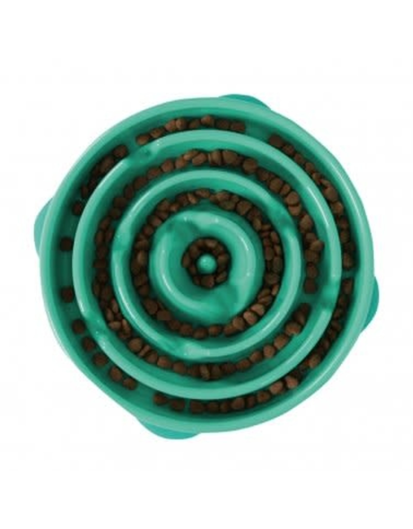 Outward Hound Outward Hound Fun Feeder Slo-Bowl for Dogs - Turquoise