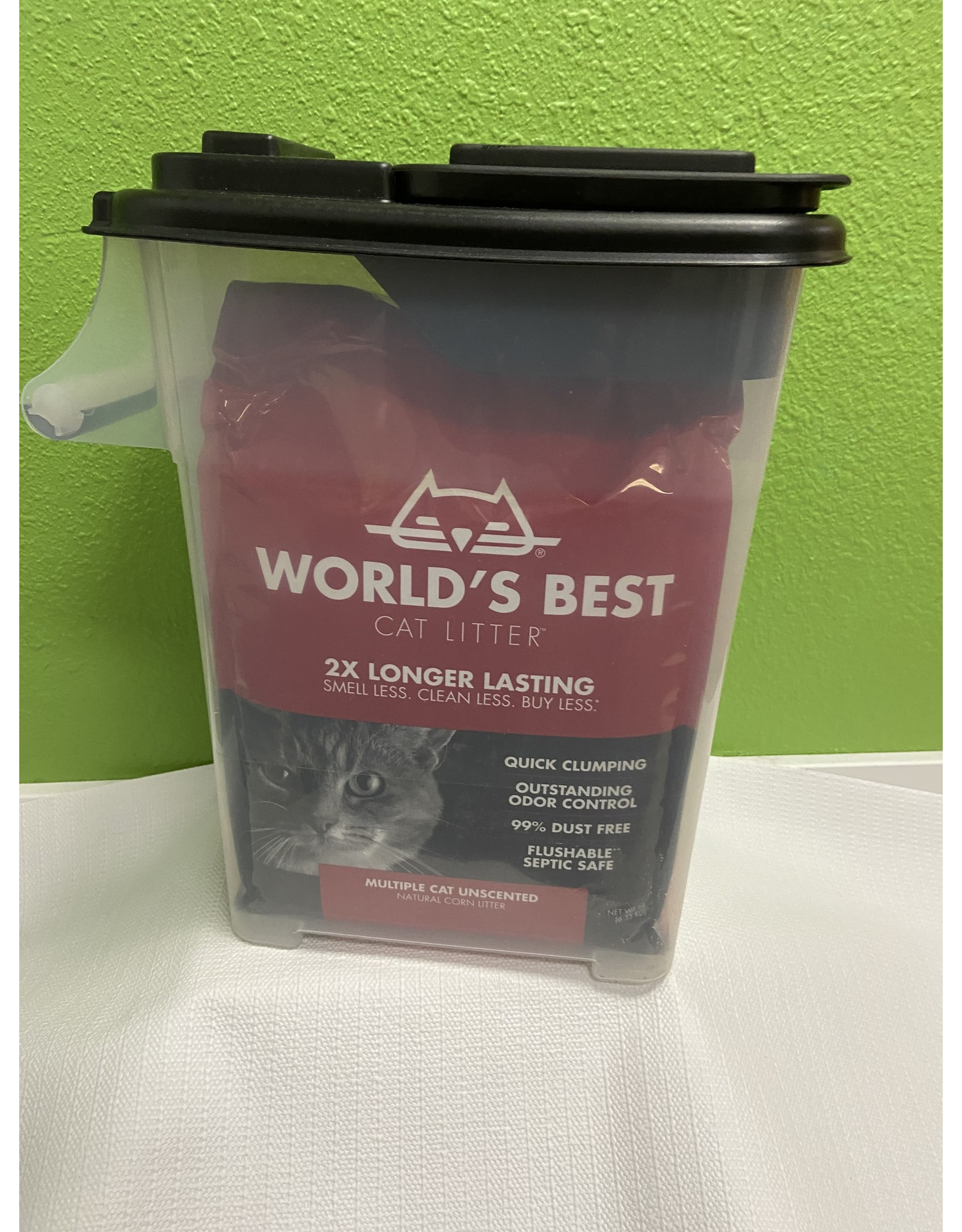 Worlds Best Worlds Best Cat Litter Multi-Cat Clumping 14 lb. w/Container