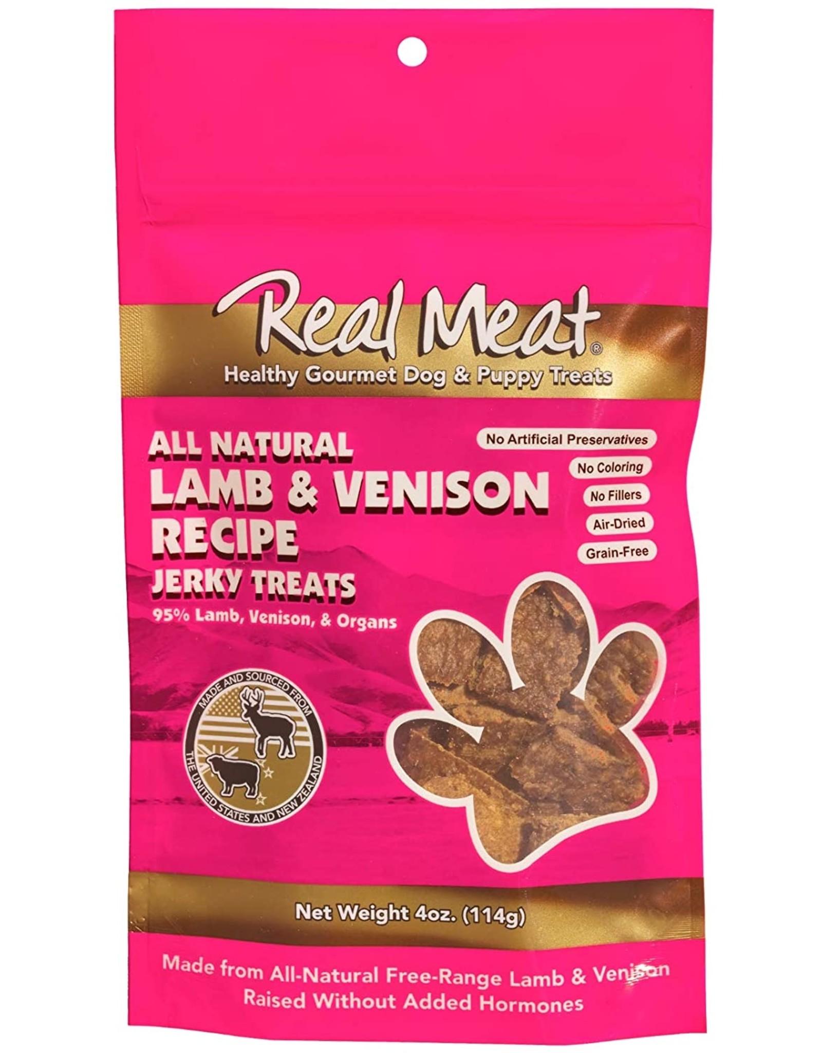 The Real Meat Company Real Meat Company  Lamb & Venison Jerky 4oz.