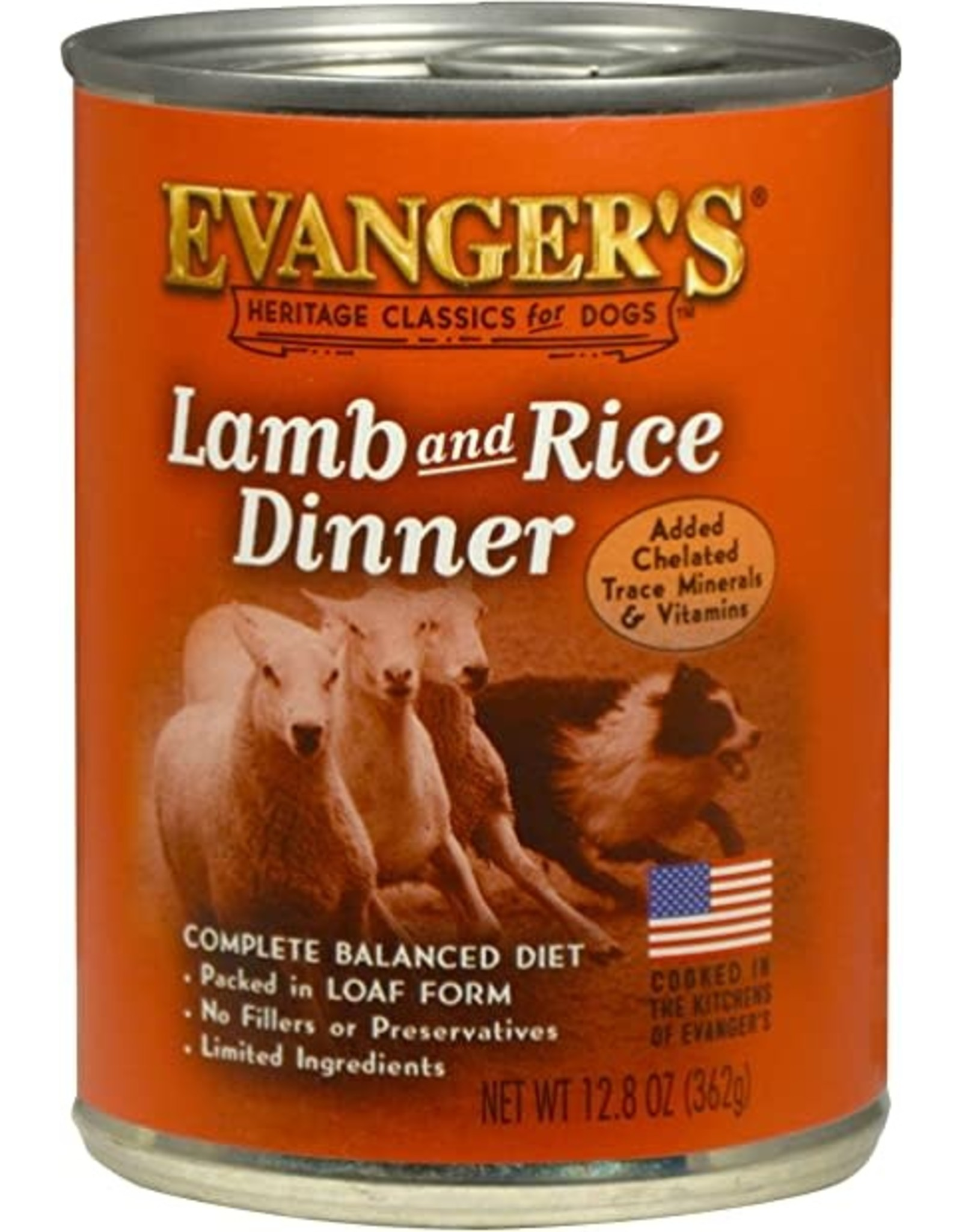 Evangers Evanger's Classic Lamb & Rice Dog Food 12.5oz