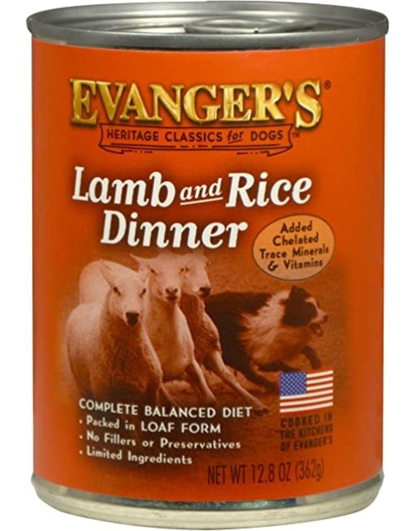 Evangers Evanger's Classic Lamb & Rice Dog Food 12.8oz