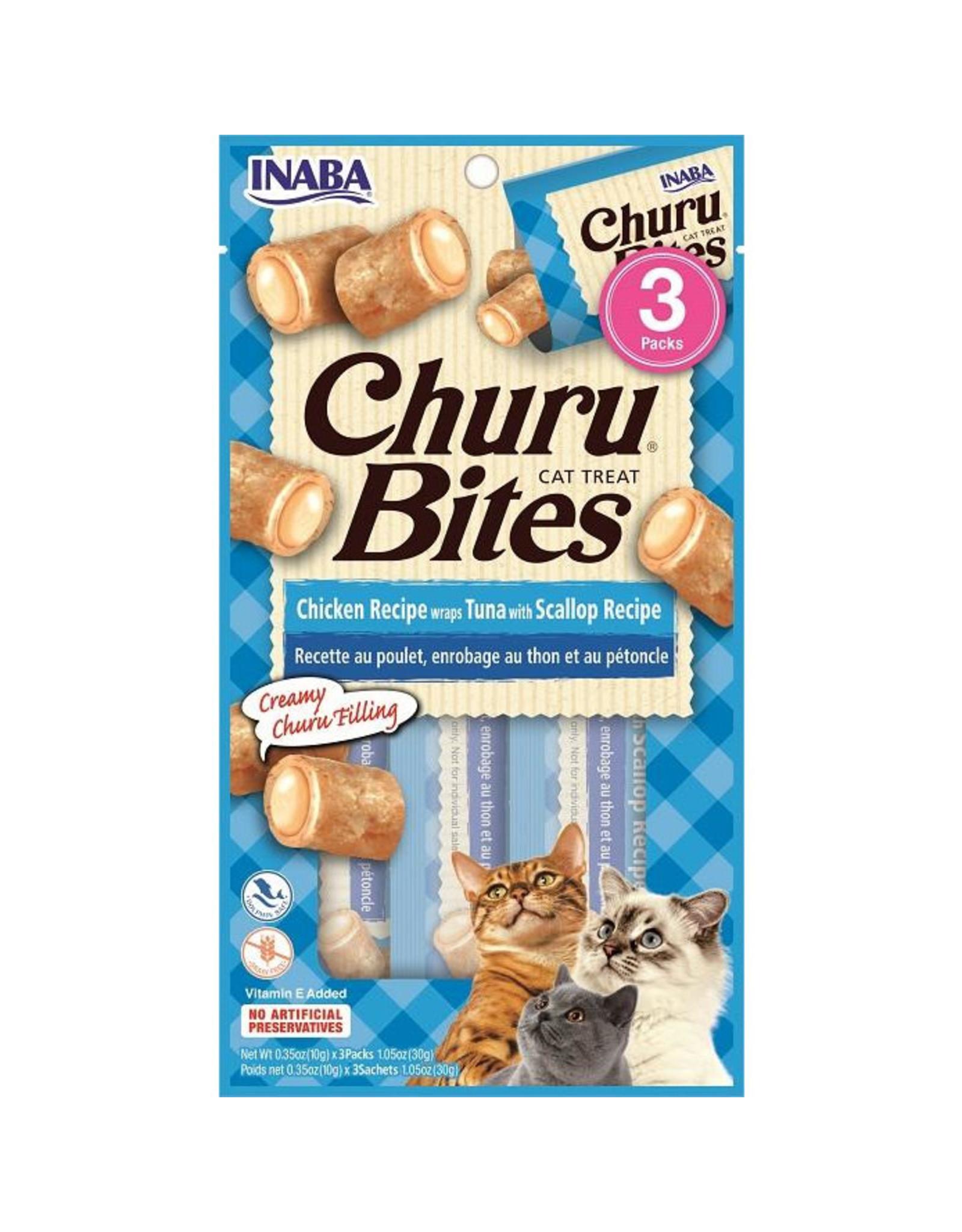 Inaba Inaba Churu Bites Chicken Recipe Wraps Tuna w/Scallop Recipe Cat Treats 3 pack