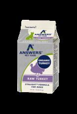 Answers Pet Foods Answers Pet Food Straight Turkey Dog Food 1lb