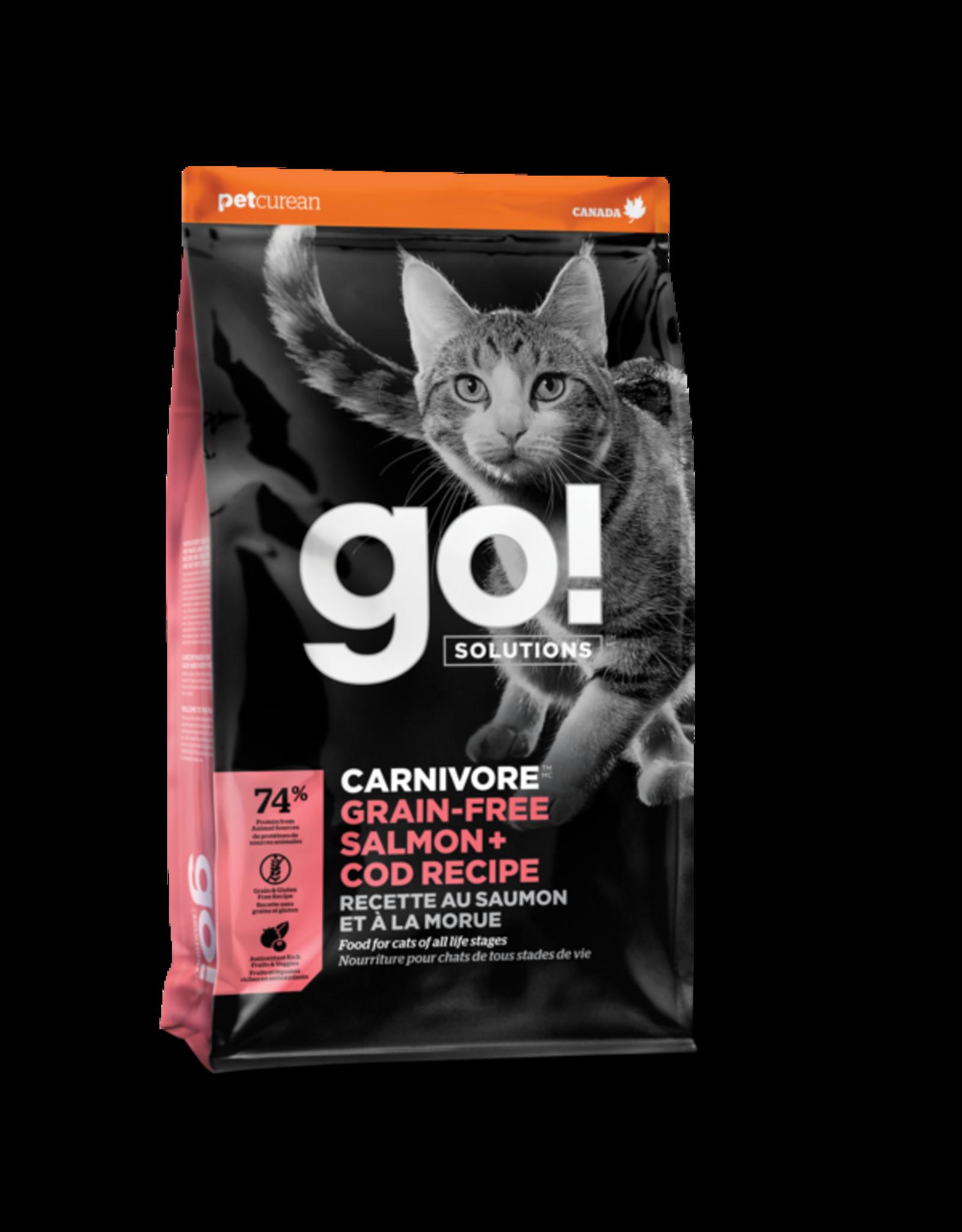 Petcurean Petcurean Go! Carnivore Grain-Free Salmon & Cod Recipe Cat Food 3lb