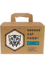 Savage Cat Savage Cat Food Raw Rabbit Recipe 3oz 7pk/bx