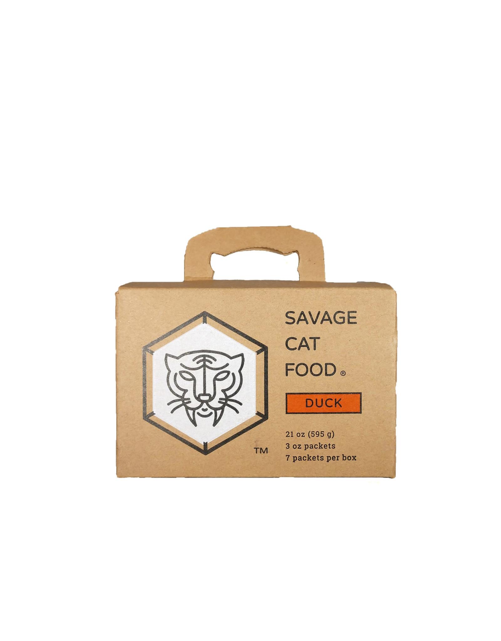 Savage Cat Savage Cat Food Raw Duck Recipe 3oz 7pk/bx