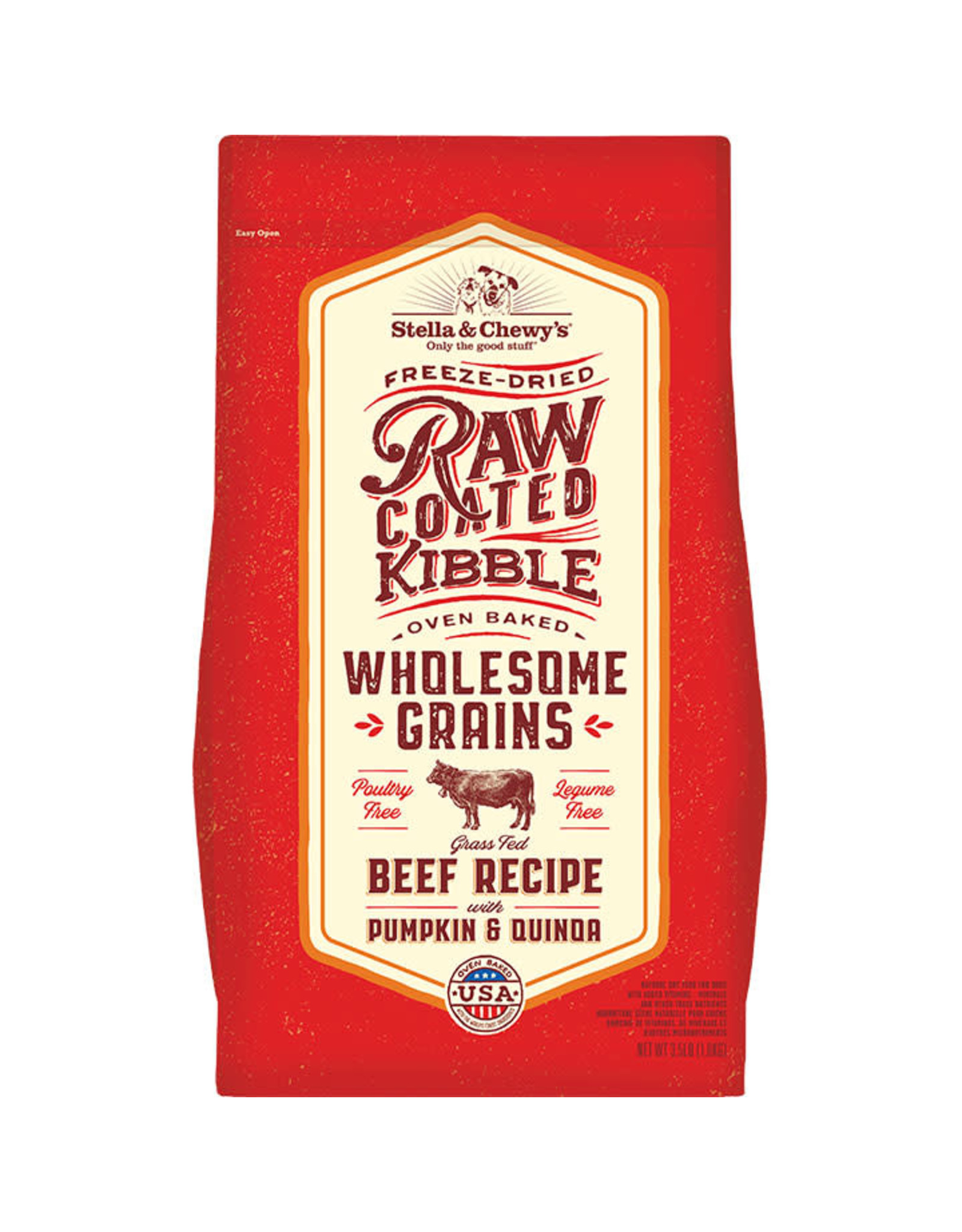 Stella & Chewy's Stella & Chewy's Raw Coated Wholesome Grains Beef Recipe Dog Food 3.5lb
