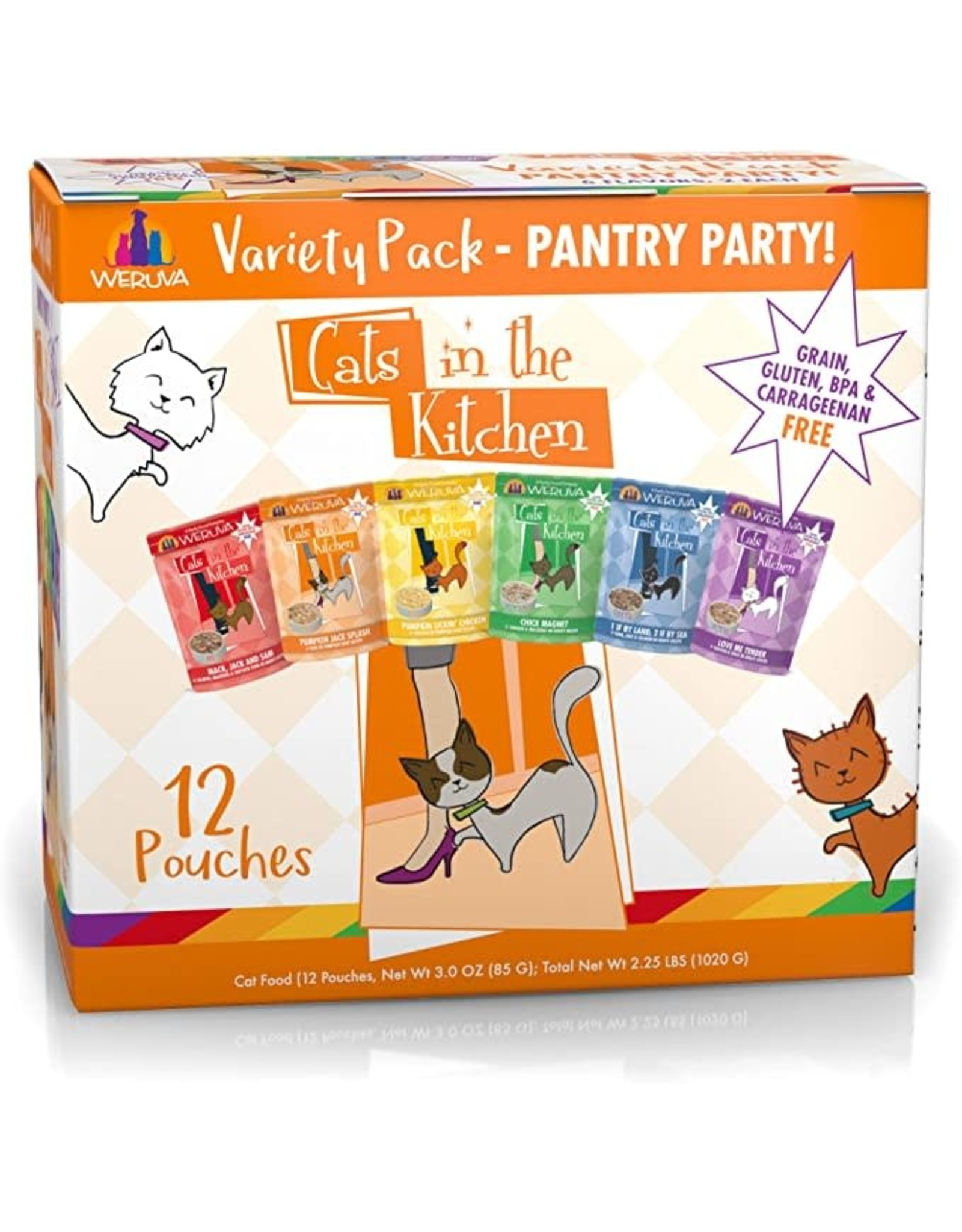 Weruva Weruva Cats in the Kitchen Variety Pack Pantry Party Cat Food 3oz Pouch 12/cs