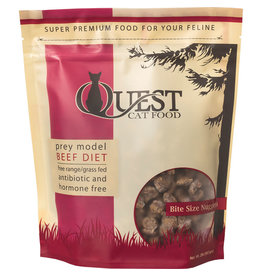 Steve's Real Food Steve's Real Food Quest Frozen Beef Diet Bite Size Nuggets Cat Food  2lb