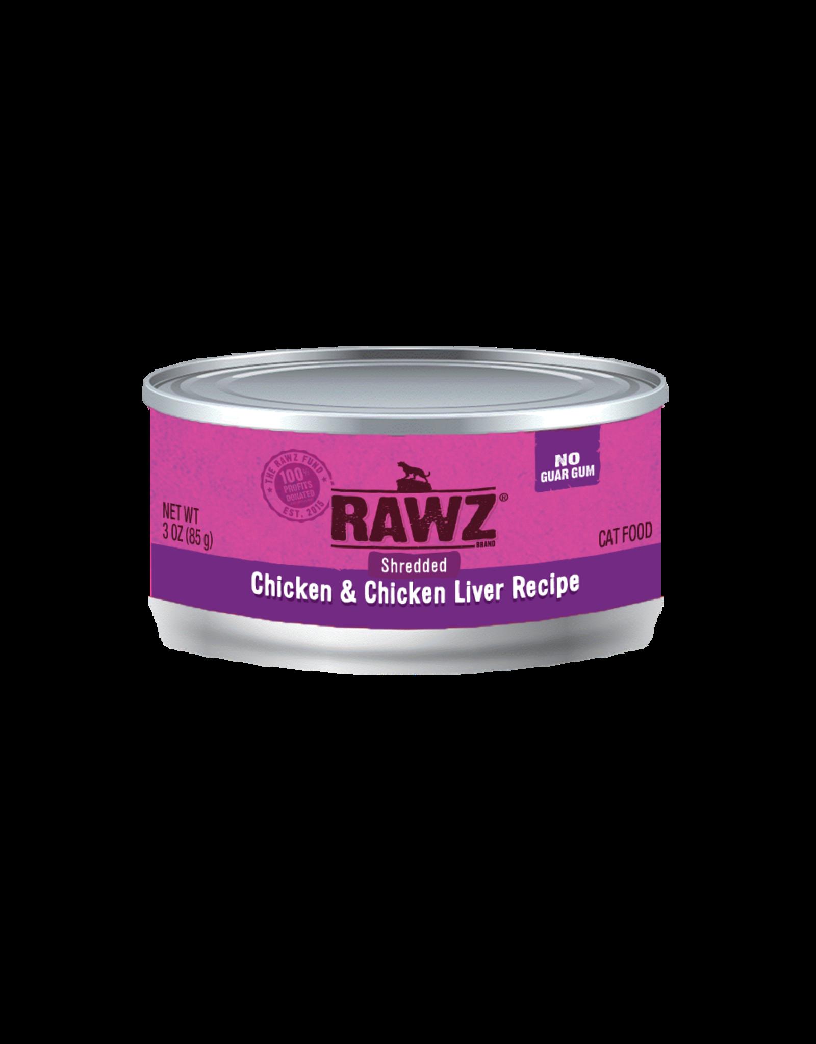 Rawz Rawz Shredded Chicken & Chicken Liver Wet Cat Food 3oz