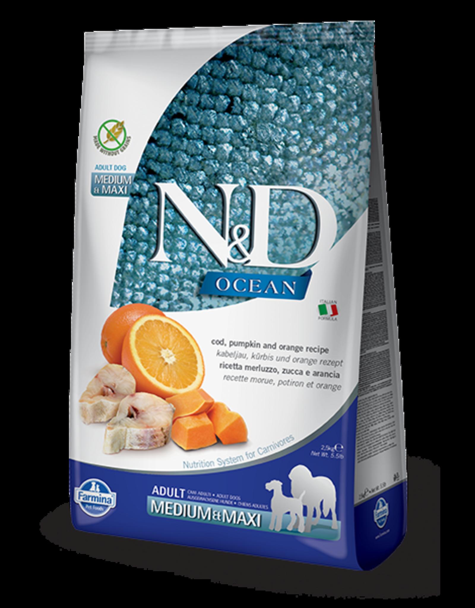 Farmina N&D Farmina N&D Ocean Cod, Pumpkin & Orange Adult Med/Maxi Dog Food