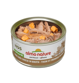 Almo Nature Almo Nature HQS Natural Tuna & Cheese in Broth Wet Cat Food 2.47oz