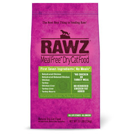 Rawz Rawz Meal Free Dehydrated Chicken, Turkey & Chicken Cat Food