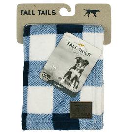 "Tall Tails Tall Tails Dog Blanket Navy Plaid 30"" x 40"""