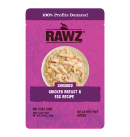 Rawz Rawz Shredded Chicken Breast & Egg Recipe Cat Food 2.46oz pouch