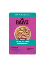Rawz Rawz Shredded Salmon, Aku Tuan & Salmon Oil Cat Food 2.46oz pouch