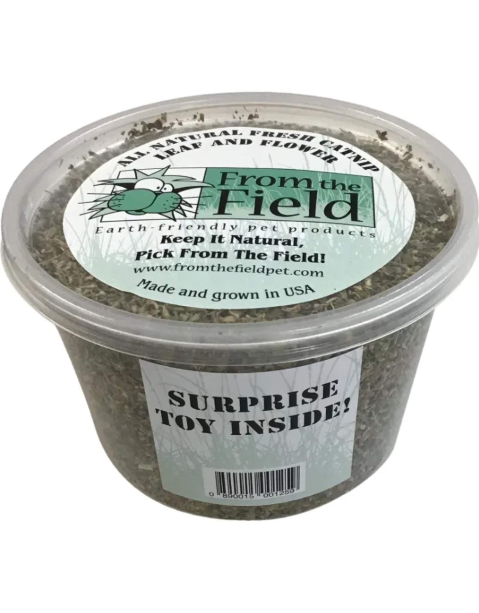 From the Field From the Field Catnip Leaf & Flower 2oz Tub w/Toy