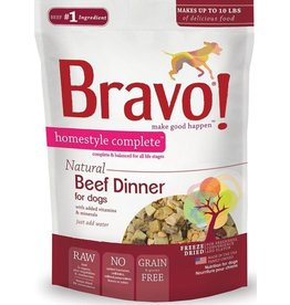 Bravo Bravo Freeze Dried Homestyle Beef Dinner for Dogs 3oz