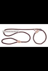 "Fab Dog Fabdog  Mountain Rope Slip Lead Large 1"" x 5' Brown"