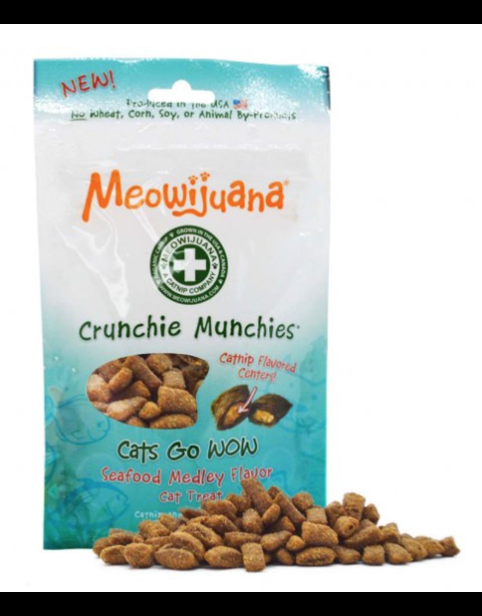 Meowijuana Meowijuana Crunchie Munchies Seafood Cat Treat 3oz