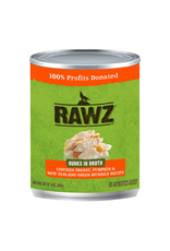 Rawz Rawz Hunks in Broth Chicken Breast, Pumpkin & New Zealand Green Mussels Recipe Dog Food 14oz