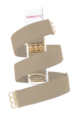 Unbelts UNBELTS - Jet Black/Gold Buckle