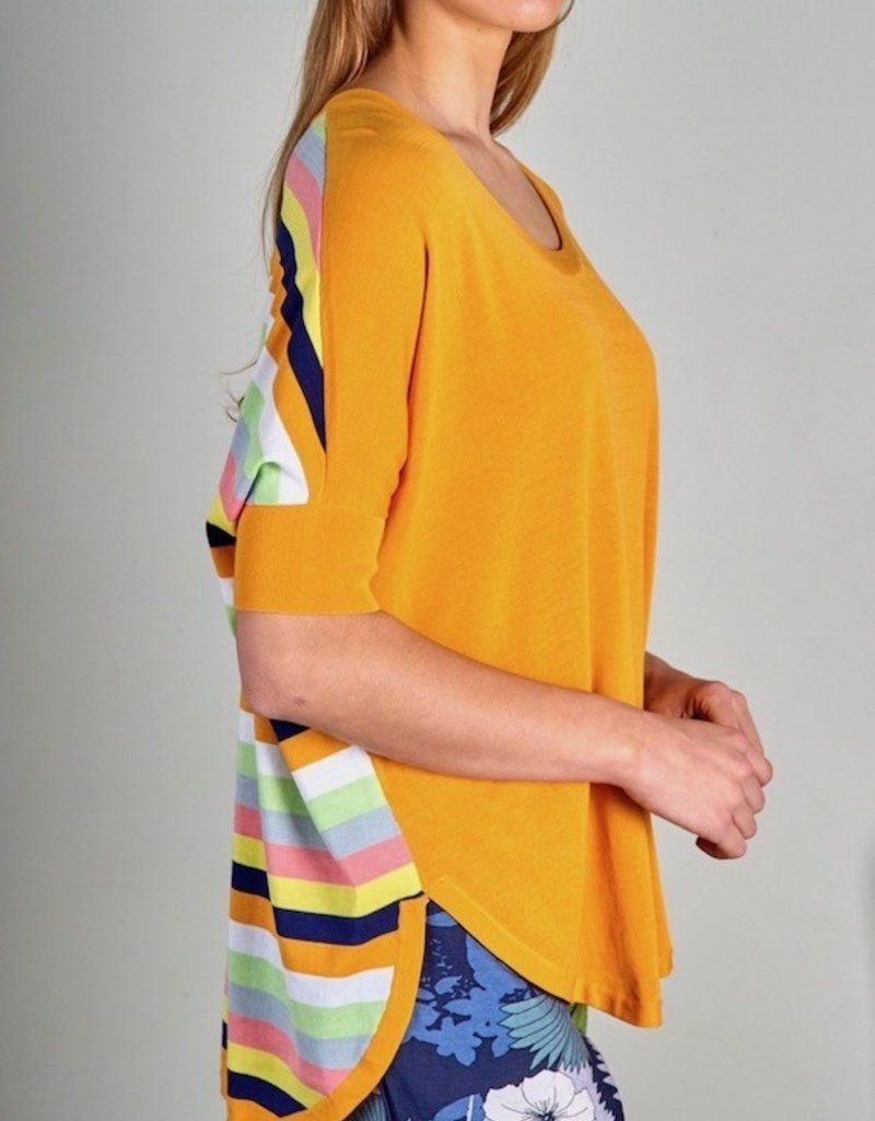 Zaket and Plover Stripe Back Sweater