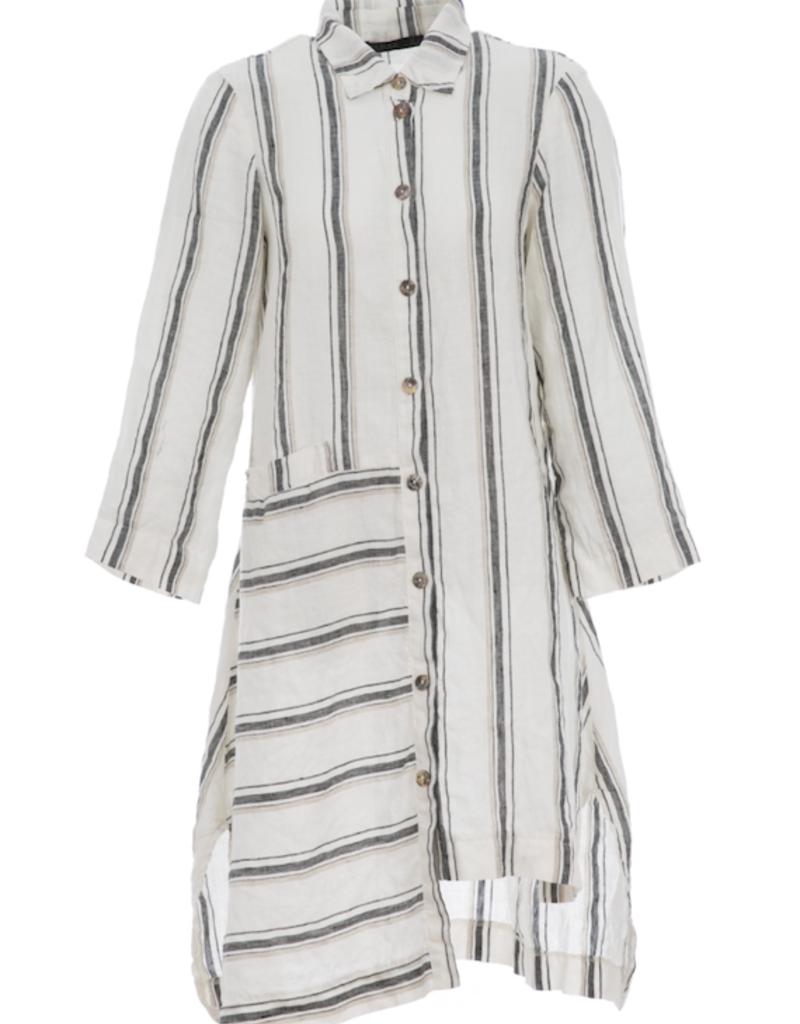 Luukaa Luukaa Jasmine Stripe Oversized Shirt