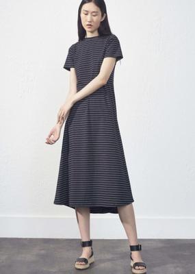 Uchuu Uchuu Black Striped Dress
