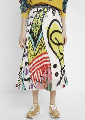 Desigual Arty Pleated Skirt