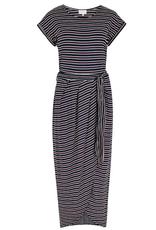 Apricot Apricot Stripe Jersey Wrap Skirt Dress