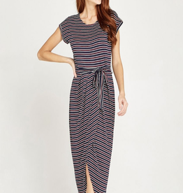 Apricot Apricot Stripe Jersey Wrap Skirt Dress