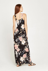 Apricot Apricot Oriental Bunches Print Maxi Dress