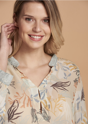 Nile 3/4 Sleeve Print Blouse