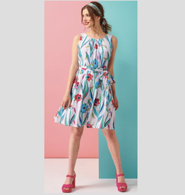 Smashed Lemon Poppy Print Dress