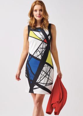 Smashed Lemon Geo Print Dress