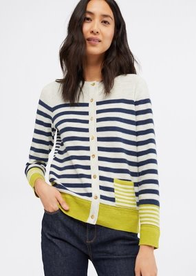 White Stuff Sketch Stripe Cardigan
