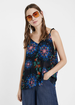 Desigual Desigual Tie Shoulder Top