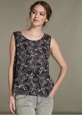 Nile Sleeveless Print Top