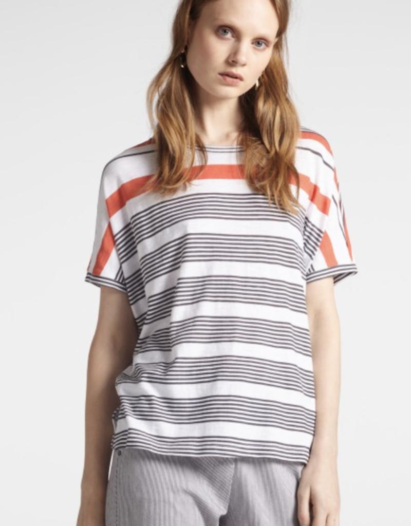 Sandwich Short Sleeve Stripe T Shirt