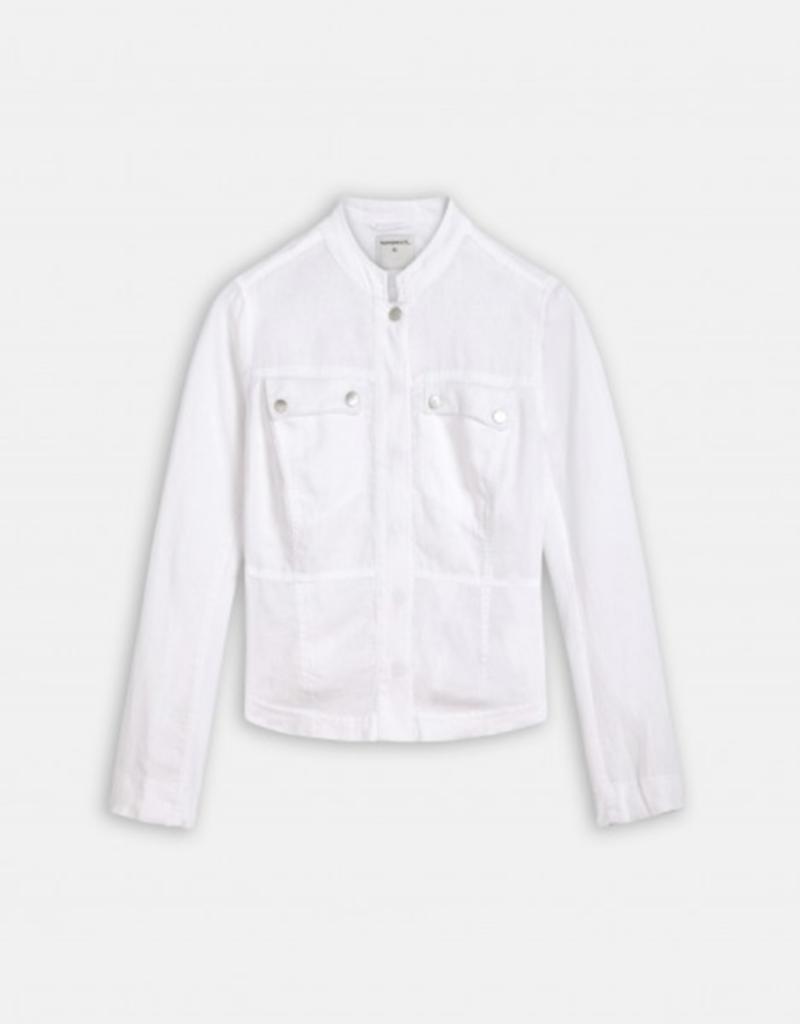 Sandwich Linen Short Jacket
