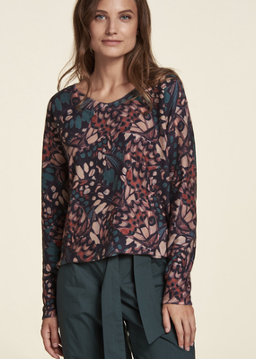 Nile Butterfly Print Pullover
