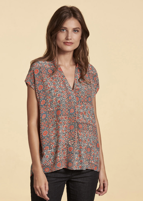Nile Cap Sleeve Print Blouse