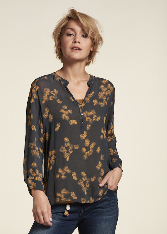 Nile V Neck Chiffon Blouse
