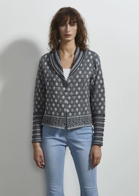 Zaket and Plover 3D Spot Cardigan