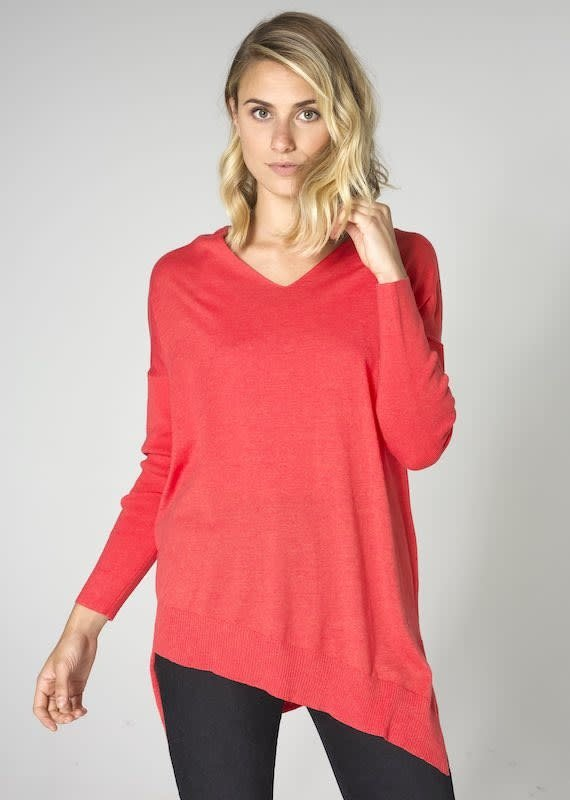 Zaket and Plover Asymmetric V Neck Tunic