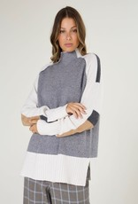 Zaket and Plover Funnel Neck Intarsia Sweater