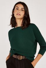 Apricot Ribbed Batwing Pullover