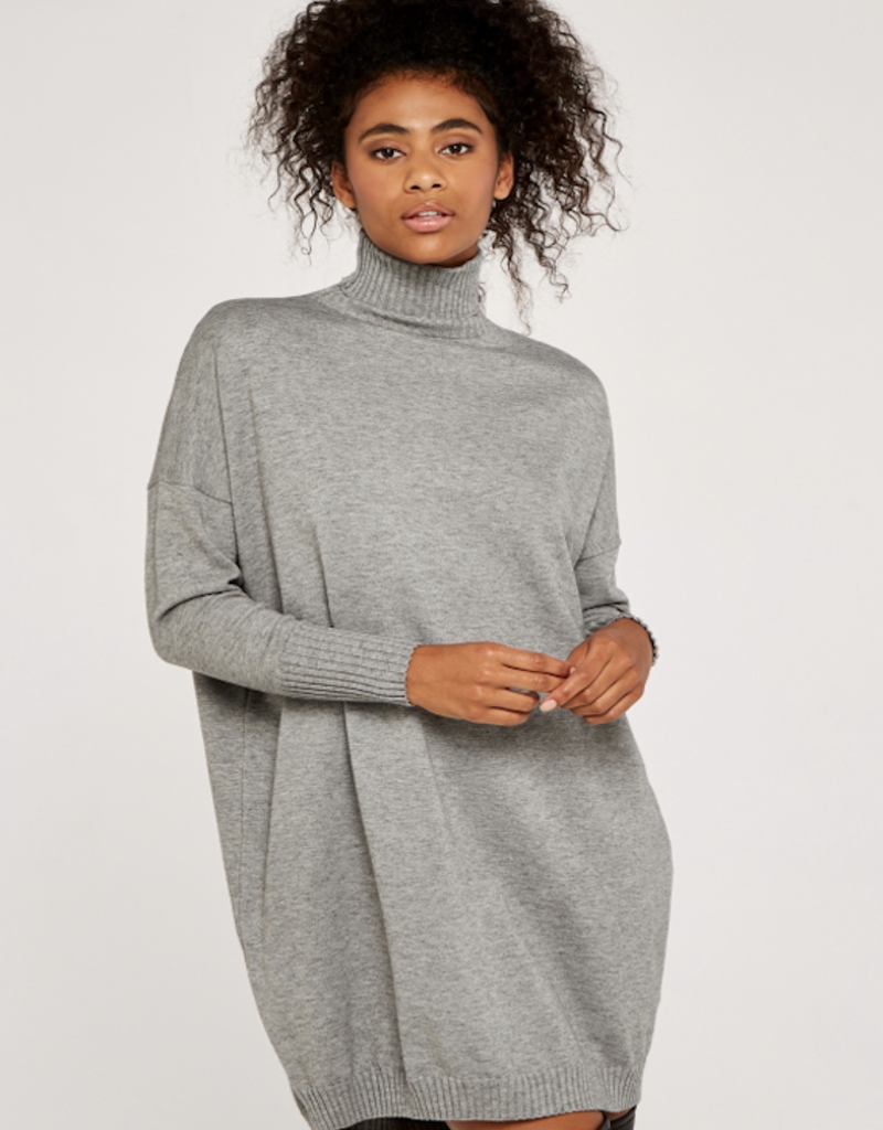 Apricot Cocoon Sweater Dress
